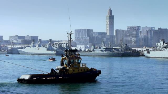 casablanca harbor - harbour stock videos & royalty-free footage