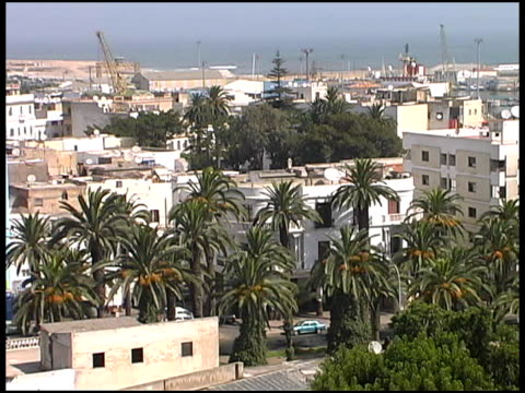 casablanca wide cityscape and port: morocco - harbour stock videos & royalty-free footage