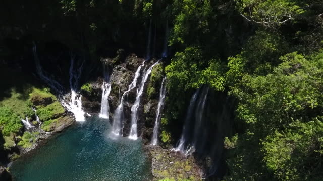 cascade de grand galet - réunion french overseas territory stock videos & royalty-free footage