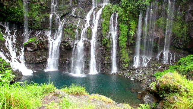 cascade langevin - reunion island - réunion french overseas territory stock videos & royalty-free footage