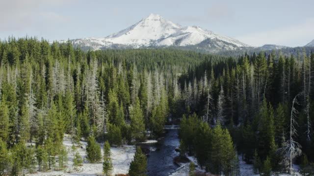 カスケード山脈サウスシスター、曲げ、オレゴン州)