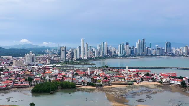 casco viejo aerial view - panama city panama stock videos & royalty-free footage