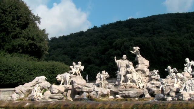 caserta, the fountain of venus and adonis. - greek mythology stock videos and b-roll footage