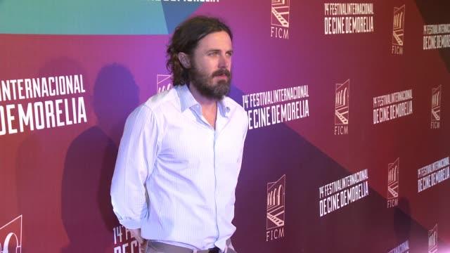 casey affleck at 2016 morelia international film festival on october 26, 2016 in morelia, mexico. - morelia video stock e b–roll