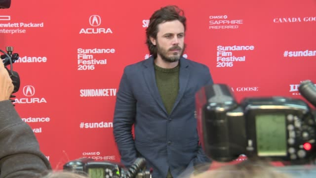 """casey affleck at """"manchester by the sea"""" screening - 2016 sundance film festival at eccles center theatre on january 23, 2016 in park city, utah. - sundance film festival stock videos & royalty-free footage"""