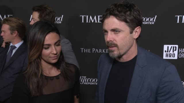 interview casey affleck at sean penn core gala a gala dinner to benefit the organization formerly known as j/p hro and their lifesaving work at... - wiltern theatre stock videos and b-roll footage