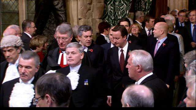 vídeos de stock, filmes e b-roll de cash for honours inquiry: commons select committee pushes for overhaul of honours system; lib ministers including gordon brown mp and david cameron... - prime minister
