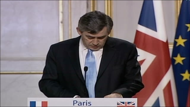 no charges to be brought france paris gordon brown mp press conference sot these were very serious allegations it's right the police investigated... - prosecution stock videos & royalty-free footage