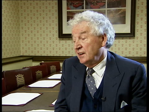 cash for honours; westminster: int lord donoughue interview sot - i saw it happen under harold wilson / it was system operated by macmillan for... - 光栄点の映像素材/bロール
