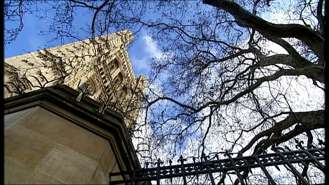 two labour peers apologise / consultancy work exposed england london ext general views of the houses of parliament and the house of lords' victoria... - victoria tower stock-videos und b-roll-filmmaterial