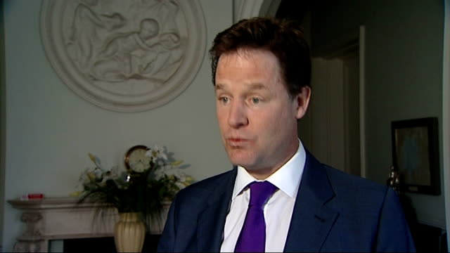 Government promises to introduce register of lobbyists ENGLAND London INT Nick Clegg MP interview SOT Westminster as a whole needs top to toe reform...