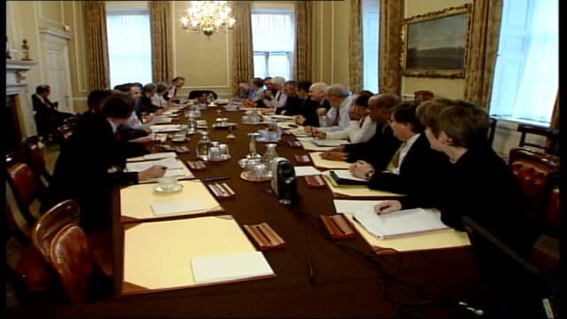 cash for peerages row: police to question every member of 2005 cabinet; r25040527 england: london: downing street: int sequence showing a 2005 labour... - charles clarke uk politician stock videos & royalty-free footage