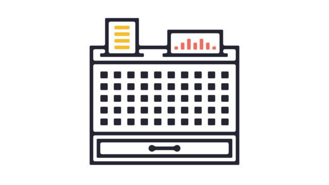 cash register icon animation - cash register stock videos and b-roll footage