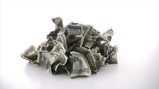 Cash trash. Dollars, money, business, finance concept.