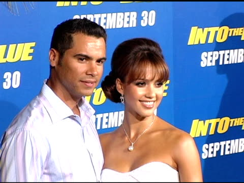 Cash Warren and Jessica Alba at the 'Into The Blue' Premiere at the Mann Village Theatre in Westwood California on September 21 2005