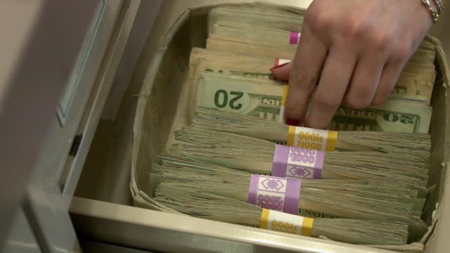 cu ha cashier handling money in drawer, bethlehem, pennsylvania, usa - bethlehem pennsylvania stock videos and b-roll footage