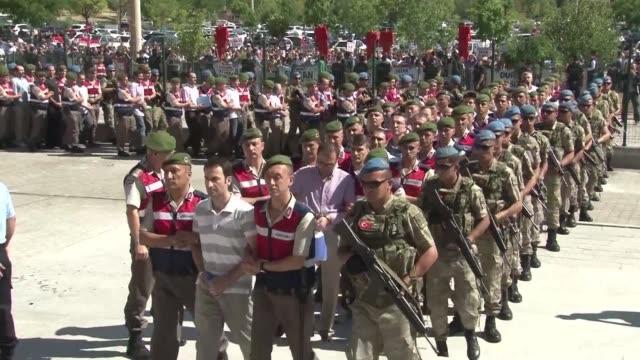 casi 500 acusados de haber participado en el golpe de estado fallido contra el presidente turco recep tayyip erdogan en julio de 2016 comenzaron a... - acanthaceae stock videos & royalty-free footage