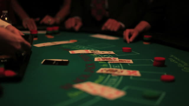 casino, blackjack table. - blackjack stock videos and b-roll footage