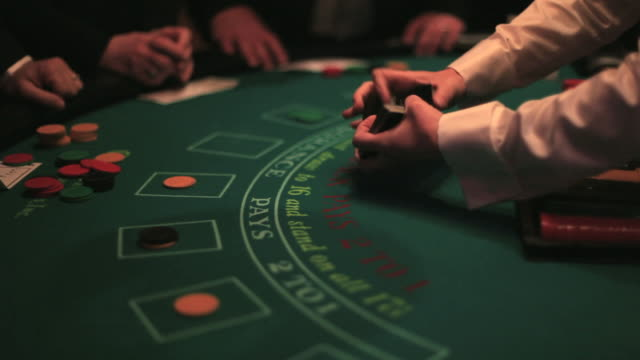 vídeos y material grabado en eventos de stock de casino, blackjack tabla. - blackjack