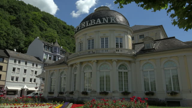 casino building, bad ems, lahn valley, rhineland-palatinate, germany - dome stock videos & royalty-free footage