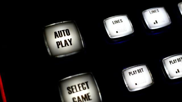 casino buttons - casino interior stock videos & royalty-free footage