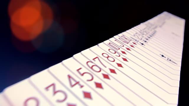 casino-karten - poker stock-videos und b-roll-filmmaterial