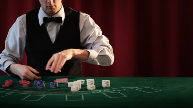 casino croupier - blackjack stock videos and b-roll footage