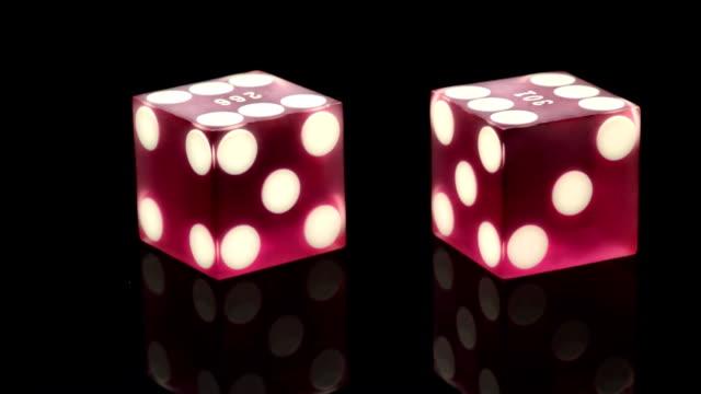 vídeos y material grabado en eventos de stock de casino de dados - two dimensional shape