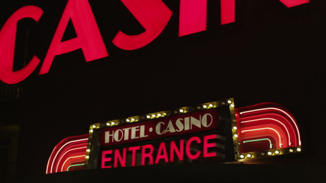 casino entrance sign - casino sign stock videos & royalty-free footage
