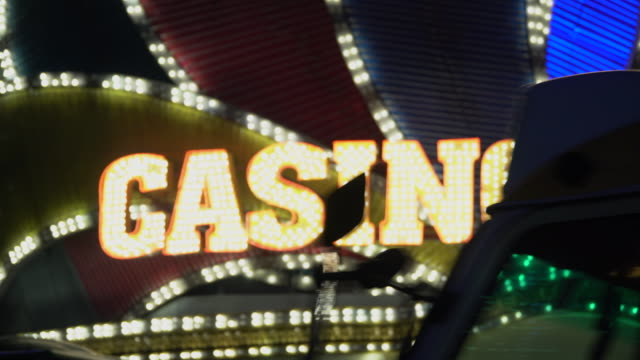 casino light in las vegas - casino sign stock videos & royalty-free footage