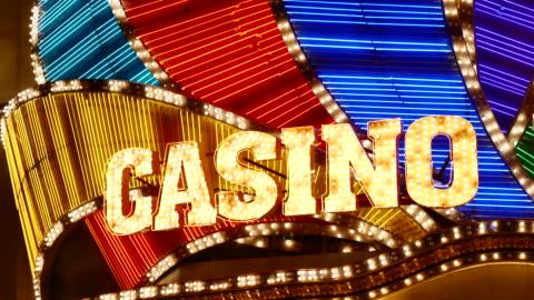 casino light in las vegas - las vegas stock videos & royalty-free footage