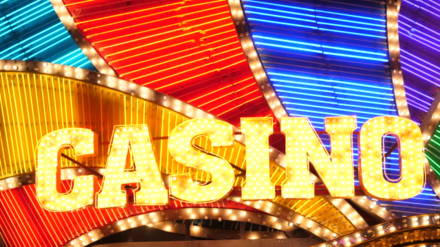 casino light - casino sign stock videos & royalty-free footage