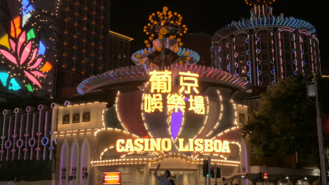 casino lisboa, macau, china - macao stock videos & royalty-free footage