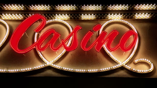 Casino-Neon Sign in HD-Qualität