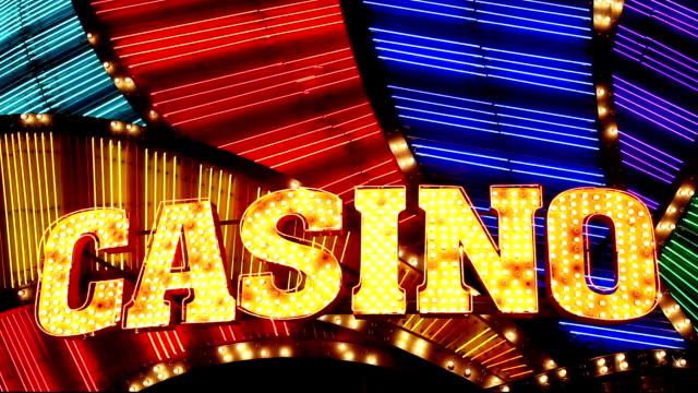 casino-neon sign-macau, china - casino stock-videos und b-roll-filmmaterial