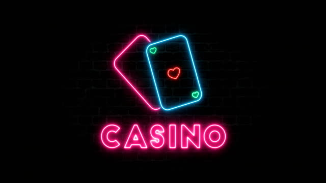 casino neon - casino sign stock videos & royalty-free footage