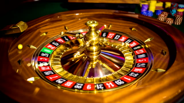 hd: casino roulette wheel spinning - roulette stock videos and b-roll footage