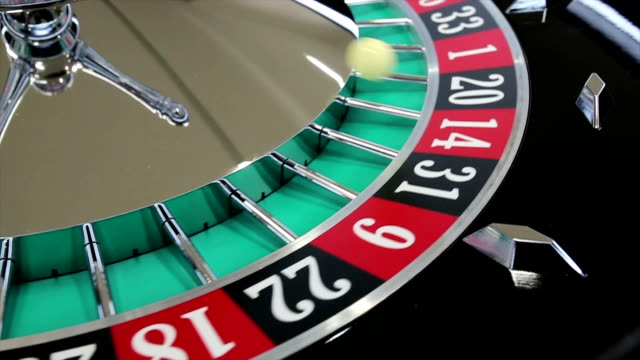 casino roulette wheel with the ball on number 1 - roulette stock videos and b-roll footage