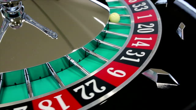 casino roulette wheel with the ball on number 1 - loss stock videos & royalty-free footage