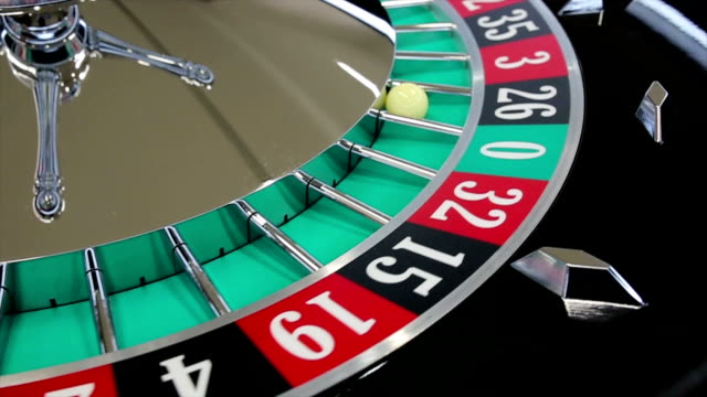 casino roulette wheel with the ball on number 26 - chance concept stock videos & royalty-free footage