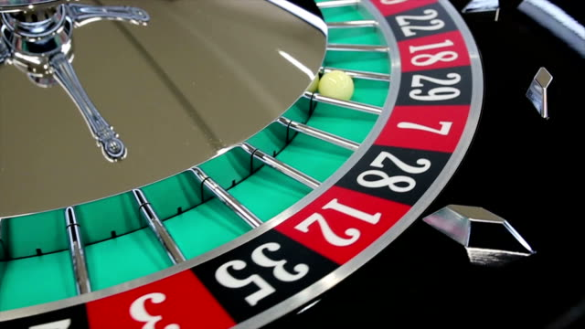 casino roulette wheel with the ball on number 29 - roulette wheel stock videos and b-roll footage