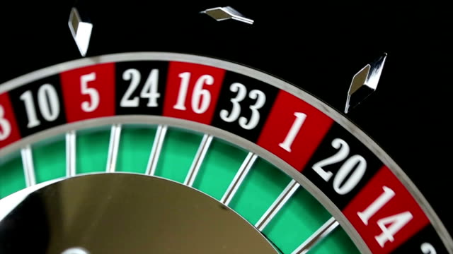 casino roulette wheel with the ball on number 36 - roulette wheel stock videos and b-roll footage