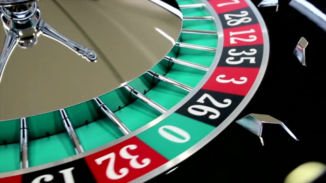 casino roulette wheel with the ball on number 7 - roulette stock videos and b-roll footage