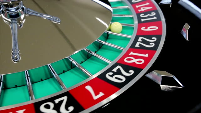 casino roulette wheel with the ball on number 9 - roulette stock videos and b-roll footage
