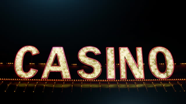 stockvideo's en b-roll-footage met casino sign - westers schrift
