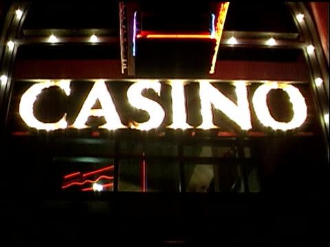 casino sign - western script stock videos & royalty-free footage