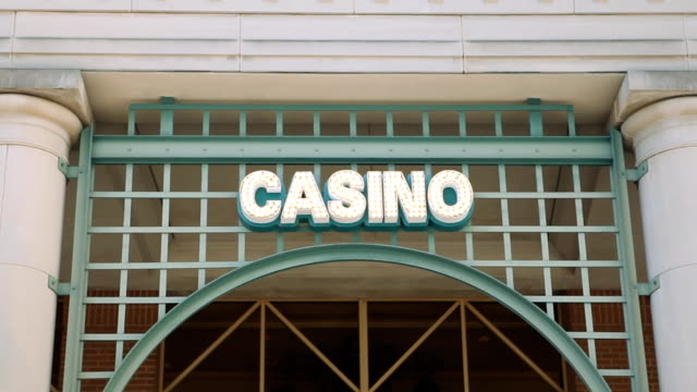 casino sign - building entrance stock videos & royalty-free footage