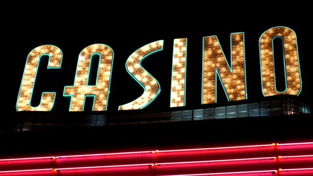 casino sign - casino sign stock videos & royalty-free footage