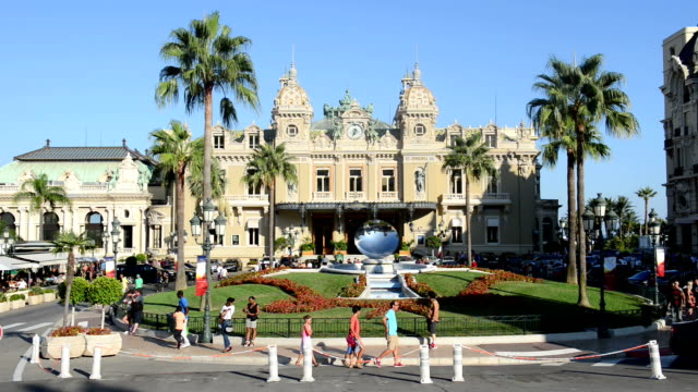 casino square of monte carlo - monaco stock-videos und b-roll-filmmaterial