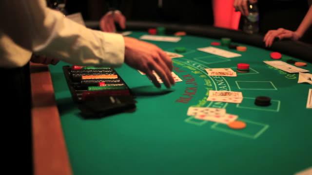 casino - blackjack stock videos and b-roll footage